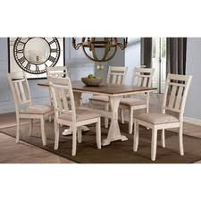 seven piece dining set: baxton studio roseberry  piece dining set