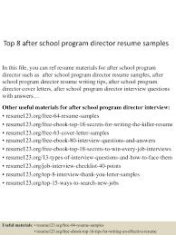 top8afterschoolprogramdirectorresumesamples 150511075651 lva1 app6891 thumbnail 4 jpg cb 1431331055