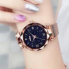 <b>Luxury Women Watches Magnetic</b> Starry Sky Female Quartz ...