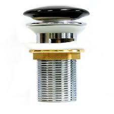 <b>MELANA Донный клапан</b> с переливом (черный) <b>T201B</b>