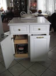 Kitchen Cabinet Garbage Drawer Under Counter Pull Out Trash Can Portable White Kitchen Trash Can