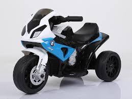 Детский <b>электромотоцикл JIAJIA BMW S1000RR</b> 6V - голубой ...