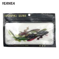 <b>Yernea 5Pcs</b>/<b>Lot</b> 10cm 3D Big Eye <b>Fishing</b> Lure Shrimp Squid Jig ...