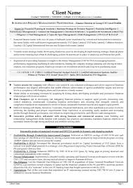 resume samples cv template cv sample finance director group cfo level profile page 1