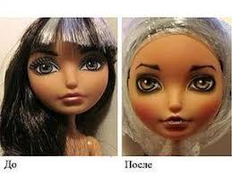 OOAK: перерисовка лица куклы   Журнал Ярмарки Мастеров