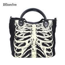DIINOVIVO Luminous Gothic Skeleton Bones Skulls <b>Bags</b> Rock ...
