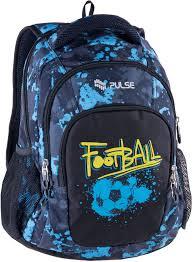 <b>Рюкзак PULSE TEENS BLUE</b> FOOTBALL, 43х28х22см