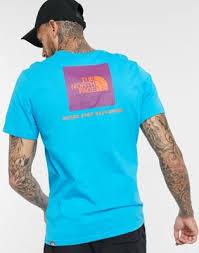 Разноцветная <b>футболка The North</b> Face Red Box синяя | Evesham ...