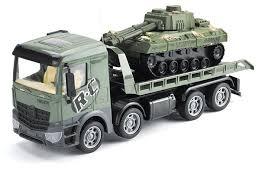 553-B3 <b>Zhoule Toys Радиоуправляемый грузовик-трейлер</b> + танк ...
