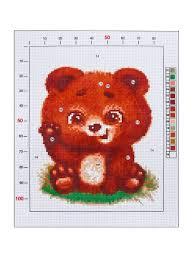 """Канва для <b>вышивания с</b> рисунком """"Мишутка"""", 20 х 25 см Арт узор ..."""