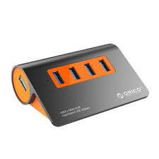 <b>Orico 4 Port</b> USB 3.1 Hub - Orange - Umart.com.au