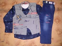 Cotton Fabric <b>Boys 3 Pcs</b> Koti Baba Suit, Rs 400 /piece, M. S. ...