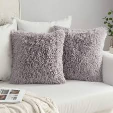 MIULEE Pack of <b>2</b> Luxury Faux Fur Throw <b>Pillow</b> Cover Deluxe ...