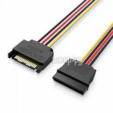 <b>Аксессуар Кабель</b> Vention SATA 15 pin M/SATA 15 pin F Black 0.5 ...