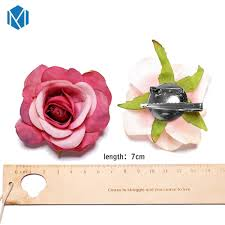 <b>M MISM 1PC</b> Fashion Flower Hair Clips Fabric Flower Brooches ...