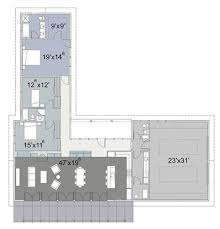 Cliff May inspired ranch house plans from Houseplans com   Retro        floor plan detail