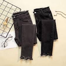 <b>JUJULAND 2019</b> Jeans <b>Female</b> Denim Pants Black Color <b>Womens</b> ...