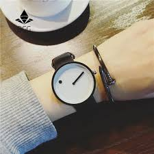 2019 Minimalist <b>style creative</b> wristwatches BGG black & white <b>new</b> ...