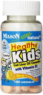 Buy Mason Vitamins Healthy Kids <b>Cod Liver Oil</b> and Vitamin D ...