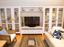 10 beautiful built ins and shelving design ideas home remodeling ideas for basements home theaters more hgtv built in living room furniture
