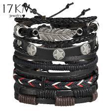 17KM Vintage Multiple <b>Charm Bracelets</b> Set For <b>Men Woman</b> ...