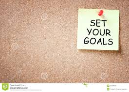 set your goals 3d words notepad pen stock photo image 62072578 set your goals concept sticky pinned to corkboard room for text royalty