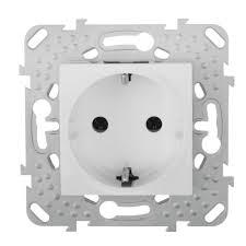 <b>Розетка Schneider Electric</b> Unica с заземлением, цвет белый в ...