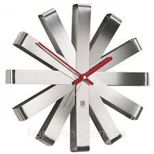 Металлические <b>настенные часы Ribbon Umbra</b> Steel, цена 2 214 ...