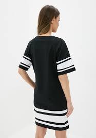 <b>Платье</b>-<b>Футболка EMBLEM</b> Lines <b>Black</b>/White, купить, цена с ...