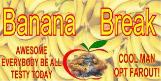 Big Education Ape: Special Banana Break - Everybody Be All Testy ... via Relatably.com