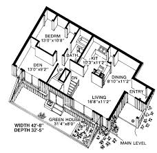 first floor plan of contemporary earth sheltered s house plan One Story House Plans With Mother In Law Quarters first floor plan of contemporary earth sheltered s house plan 19863 two more bedrooms and Detached Mother in Law Plans