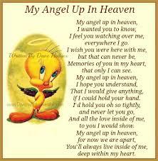 Daveswordsofwisdom.com: My Angel Up In Heaven via Relatably.com