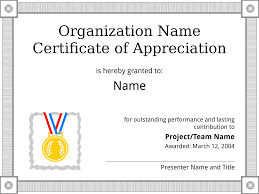 certificates business letter templates and forms certificate of appreciation sample template get a