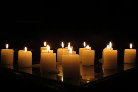 Image result for candles and flowers images