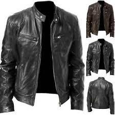 <b>Pu Leather</b> Biker Jacket in <b>Men's</b> Coats & Jackets for sale | eBay
