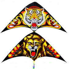 <b>free shipping high quality</b> children lion tiger kite10pcs/lot with handle ...
