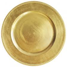 charger plates decorative: the jay companies ap f round acrylic gold beaded charger plate quot