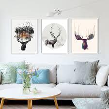 <b>Nordic</b> Minimalist <b>Modern Watercolor</b> Canvas Painting Art HD Print ...
