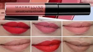 Maybelline <b>Color</b> Sensational <b>Liquid Matte</b> | Lip Swatches & Review ...