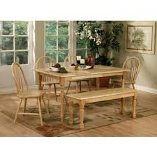 Damen Traditional Natural Brown <b>Five</b>-<b>Piece Dining Set</b> | 4361-S5 ...
