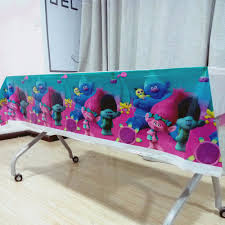 <b>108cm*180cm Trolls party</b> supplies Table Cloth Birthday Party ...