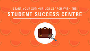 home student success centre finding your summer job infographic