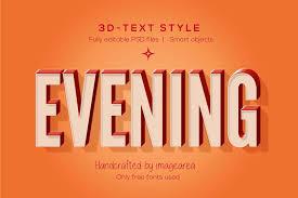 <b>3D Text Styles</b> ~ Photoshop Add-Ons ~ Creative Market