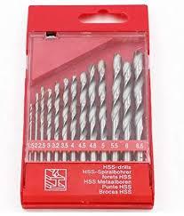 with Box JKCKHA <b>13PCS</b> Drill Bit HSS <b>High</b> Speed Steel Titanium ...