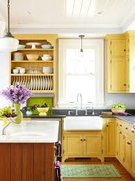 country kitchen yellow walls