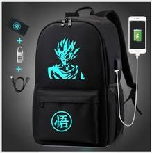 Аниме светящаяся школьная <b>сумка Dragon Ball Z</b> рюкзак Супер ...