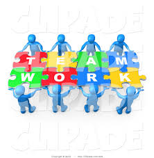 working as a team clipart clipart kid clip art of blue 3d people working together to hold colorful pieces of
