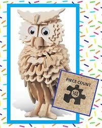 Noodle Your <b>IQ 3-D 3D</b> Wood Owl <b>Puzzle</b> #1177 - BNIP - 148 Pieces