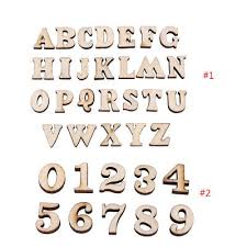 200Pcs <b>Unfinished</b> Wooden Letters Alphabet for <b>Kids</b> Early ...