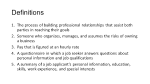 focus questions in what setting do employers usually make hiring 8 definitions 1